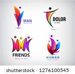 vector set of 3d multicolor men ... | Shutterstock .eps vector #1276100545