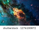 stars  galaxies and nebulas in... | Shutterstock . vector #1276100872