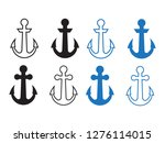 anchor vector icons. boat...