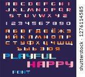 playful happy font. vector of...   Shutterstock .eps vector #1276114585