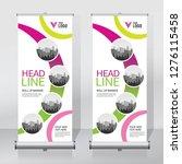 roll up banner design template  ... | Shutterstock .eps vector #1276115458