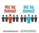 we are hiring. hire recruiting  ... | Shutterstock .eps vector #1276115512