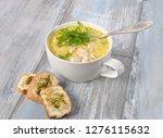 chicken soup. hot winter soup... | Shutterstock . vector #1276115632