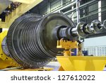 industrial steam turbine at the ... | Shutterstock . vector #127612022