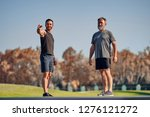 the young and old athletes...   Shutterstock . vector #1276121272