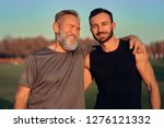 the happy father and son hug...   Shutterstock . vector #1276121332