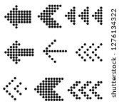 flat design vector black dot... | Shutterstock .eps vector #1276134322