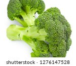 broccoli isolated on white... | Shutterstock . vector #1276147528