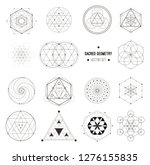 sacred geometry vector design... | Shutterstock .eps vector #1276155835