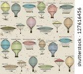 vintage  seamless pattern of... | Shutterstock . vector #127616456