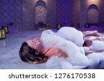 young woman in red bikini...   Shutterstock . vector #1276170538
