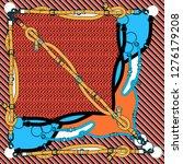 seamless square chain  belt ... | Shutterstock . vector #1276179208