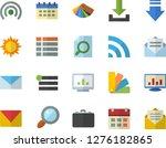 color flat icon set color...   Shutterstock .eps vector #1276182865