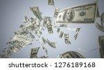 hundred dollar banknotes  100... | Shutterstock . vector #1276189168