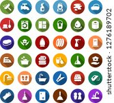 color back flat icon set   soap ... | Shutterstock .eps vector #1276189702