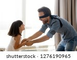 happy blindfolded father... | Shutterstock . vector #1276190965