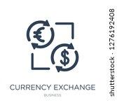 currency exchange icon vector... | Shutterstock .eps vector #1276192408