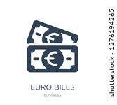 euro bills icon vector on white ... | Shutterstock .eps vector #1276194265