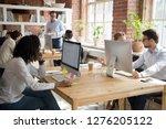 multi ethnic employees working... | Shutterstock . vector #1276205122