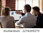 rear view at business corporate ... | Shutterstock . vector #1276205275