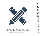 pencil and ruler icon vector on ... | Shutterstock .eps vector #1276205815
