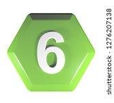 a green hexagonal push button...   Shutterstock . vector #1276207138