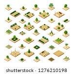 isometric 3d set park | Shutterstock . vector #1276210198
