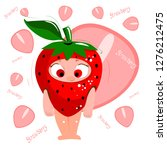 fresh juicy red cartoon... | Shutterstock .eps vector #1276212475