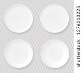 set of empty white round paper... | Shutterstock .eps vector #1276213225