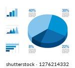 minimalistic blue infographic...