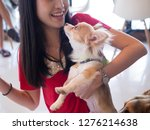 portrait of asian woman with... | Shutterstock . vector #1276214638