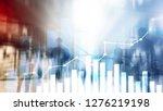 financial growth graph. sales... | Shutterstock . vector #1276219198