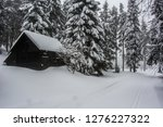 abandoned wooden hut in the... | Shutterstock . vector #1276227322