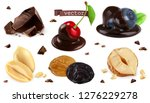 berries  nuts and chocolate.... | Shutterstock .eps vector #1276229278