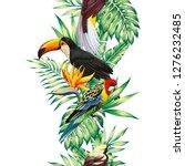 tropical realistic bird parrot  ... | Shutterstock .eps vector #1276232485