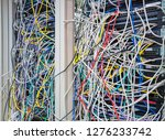 switchboard panel with chaotic... | Shutterstock . vector #1276233742