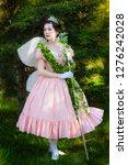 girl in image of a fairy queen...   Shutterstock . vector #1276242028