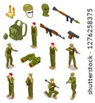 isometric soldiers. military... | Shutterstock .eps vector #1276258375