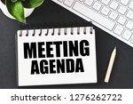 meeting agenda text concept   Shutterstock . vector #1276262722