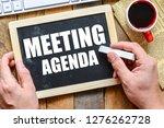 meeting agenda text concept   Shutterstock . vector #1276262728