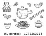 vector illustration of chinese... | Shutterstock .eps vector #1276263115