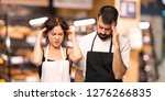 couple of cooks unhappy with... | Shutterstock . vector #1276266835