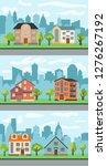 set of three illustrations of... | Shutterstock . vector #1276267192