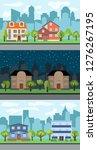 set of three illustrations of... | Shutterstock . vector #1276267195