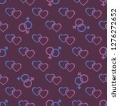 seamless pattern with gender... | Shutterstock .eps vector #1276272652