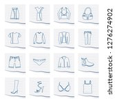 clothing and dress icons on a... | Shutterstock .eps vector #1276274902