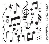 notes music. vector hand drawn... | Shutterstock .eps vector #1276280665