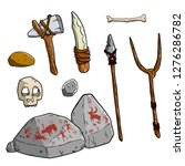 wild hunter's weapon. set of... | Shutterstock .eps vector #1276286782