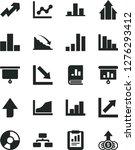 solid black vector icon set  ... | Shutterstock .eps vector #1276293412