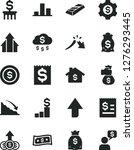solid black vector icon set  ... | Shutterstock .eps vector #1276293445